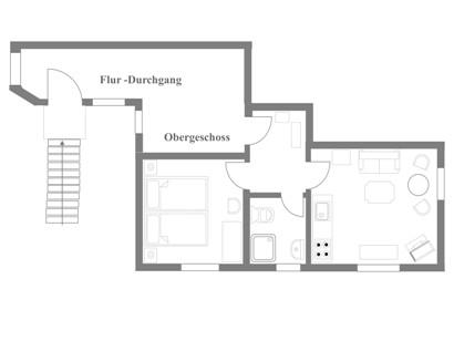 Grundriss FeWo Nr. 6 - im Obergeschoss
