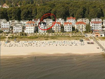 Luftaufnahme der Villa Kurfürst