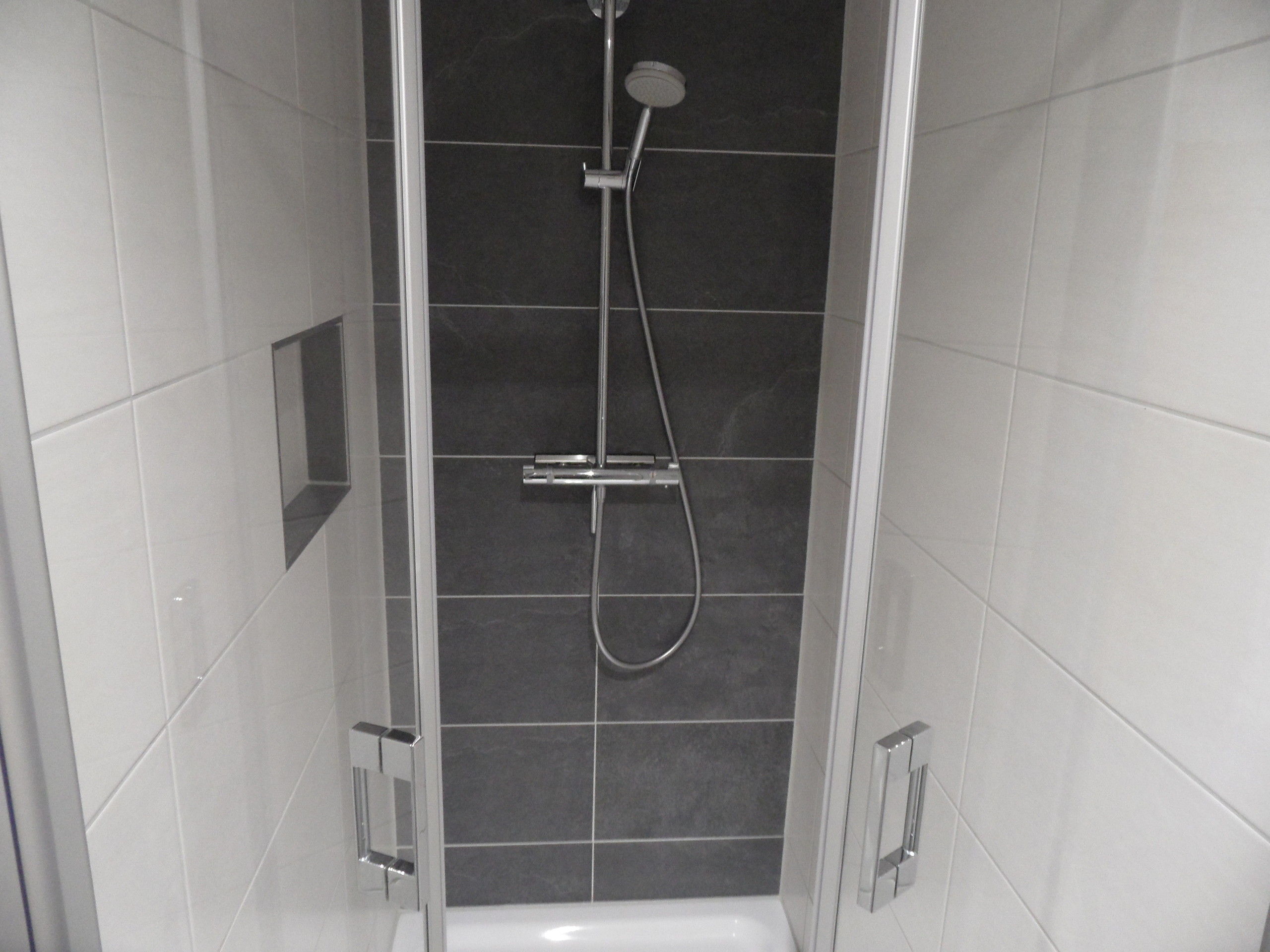 extra große Dusche