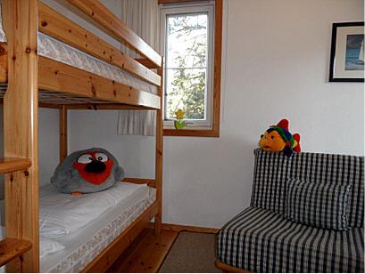 Separates Kinderzimmer mit Stockbett