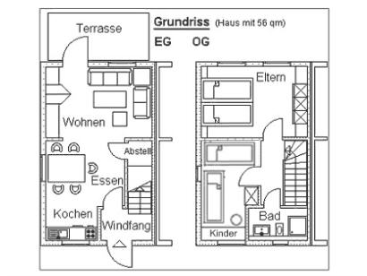 Grundriss des Hauses