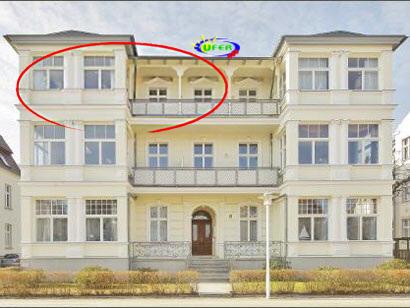 Die Villa Kurfürst von außen (FeWo Nr. 9)